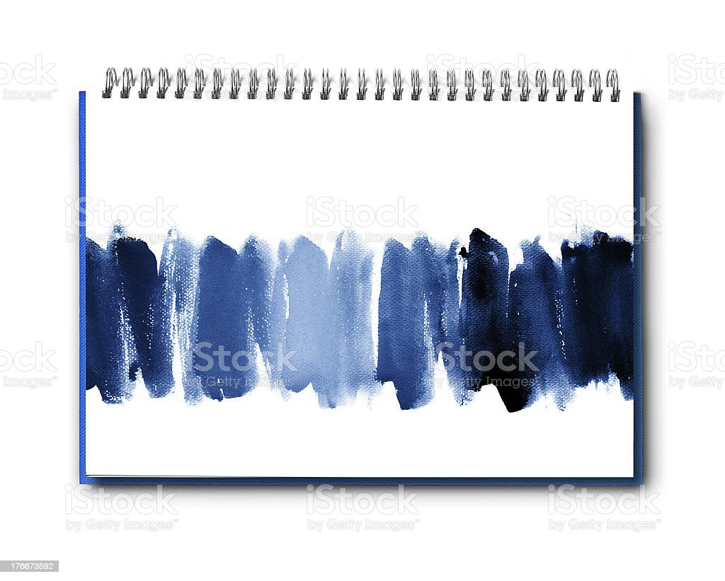 Abstract watercolor  on book royalty-free stock photo