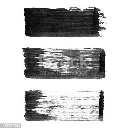 istock Abstract watercolor paintbrush lines for your project 485907400