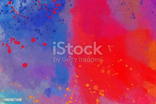 istock Abstract  Watercolor Painted Art Background 1060957406