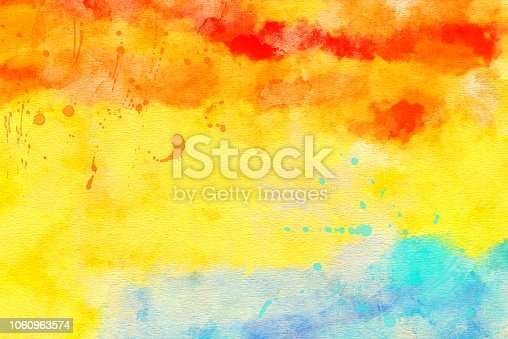 istock Abstract  Watercolor Painted Art Background 1060963574