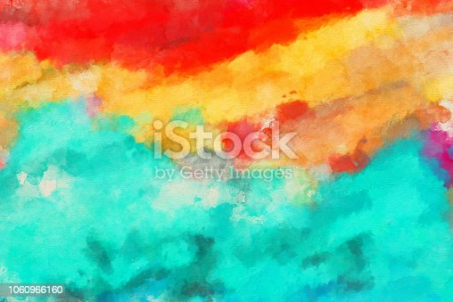 831487596 istock photo Abstract  Watercolor Painted Art Background 1060966160