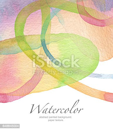 istock Abstract watercolor painted background. Paper texture. 648845004