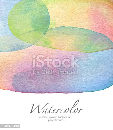 649796262 istock photo Abstract watercolor painted background. Paper texture. 648923490