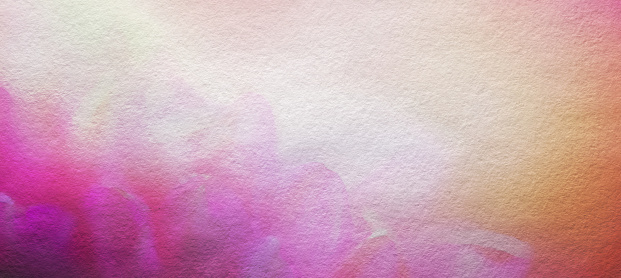 Abstract Watercolor Painted Flower Background, Horizontal with Copy Space