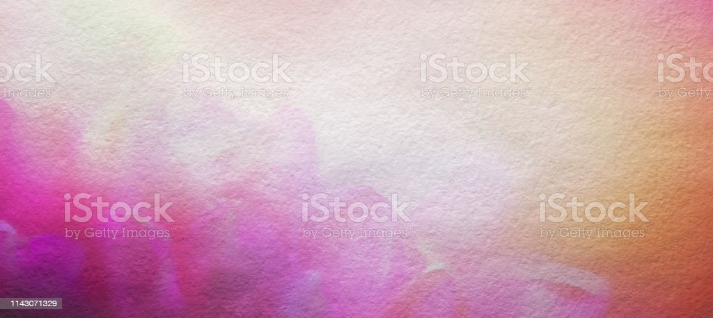 Abstract Watercolor Painted Flower Background, Horizontal with Copy Space stock photo