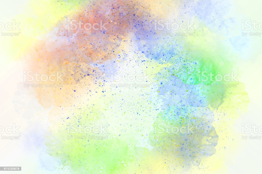 Abstract watercolor painting colorful background, backdrop stock photo