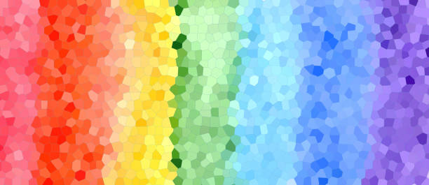 Abstract watercolor rainbow colors background stock photo