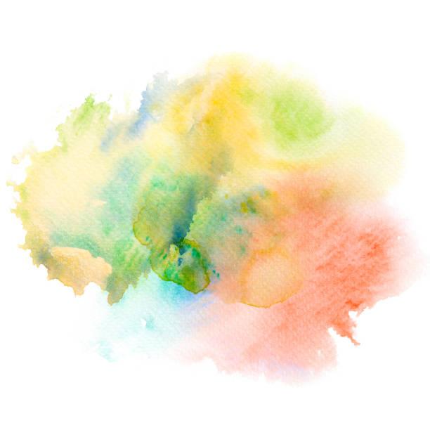 abstrait aquarelle splash. - aquarelle sur papier photos et images de collection