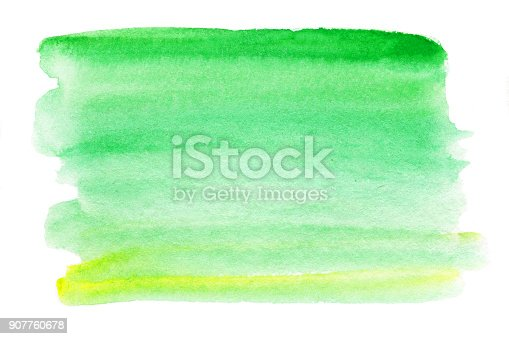 istock Abstract watercolor splash. Wet  Watercolour - blue and green  drop for your design. 907760678