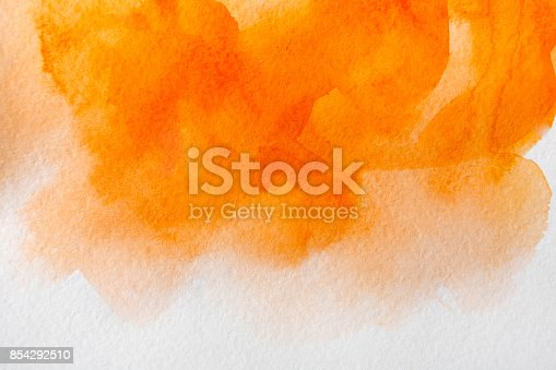 istock Abstract watercolor spot painted texture background 854292510