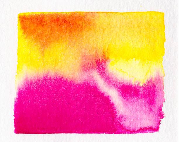 abstrakte aquarell sonnenuntergang - rosa tarnfarbe stock-fotos und bilder