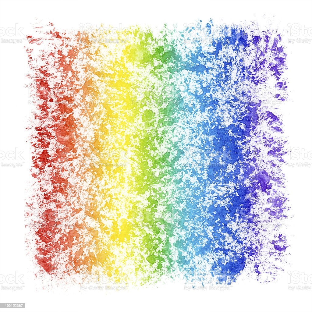 Abstract Watercolor Textured Rainbow Frame royalty-free stock photo