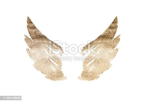 istock Abstract watercolor wings in vintage nostalgic colors 1146440846
