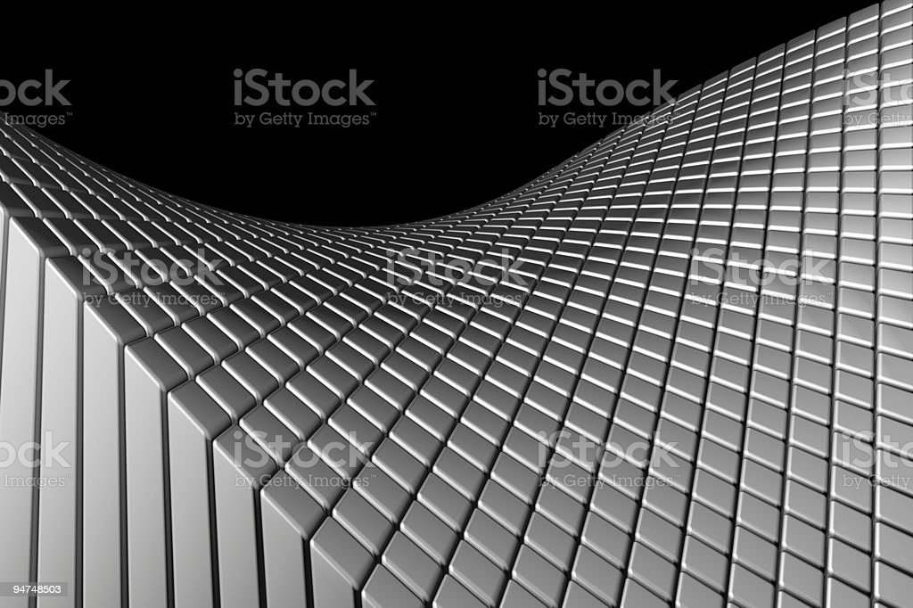 Abstract wave aluminum background royalty-free stock photo