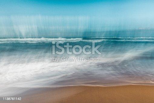 Seascape abstract, ocean wave breaks