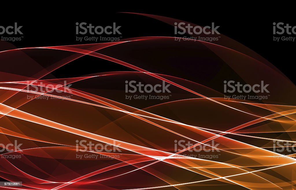 Abstract wave lights royalty-free stock photo