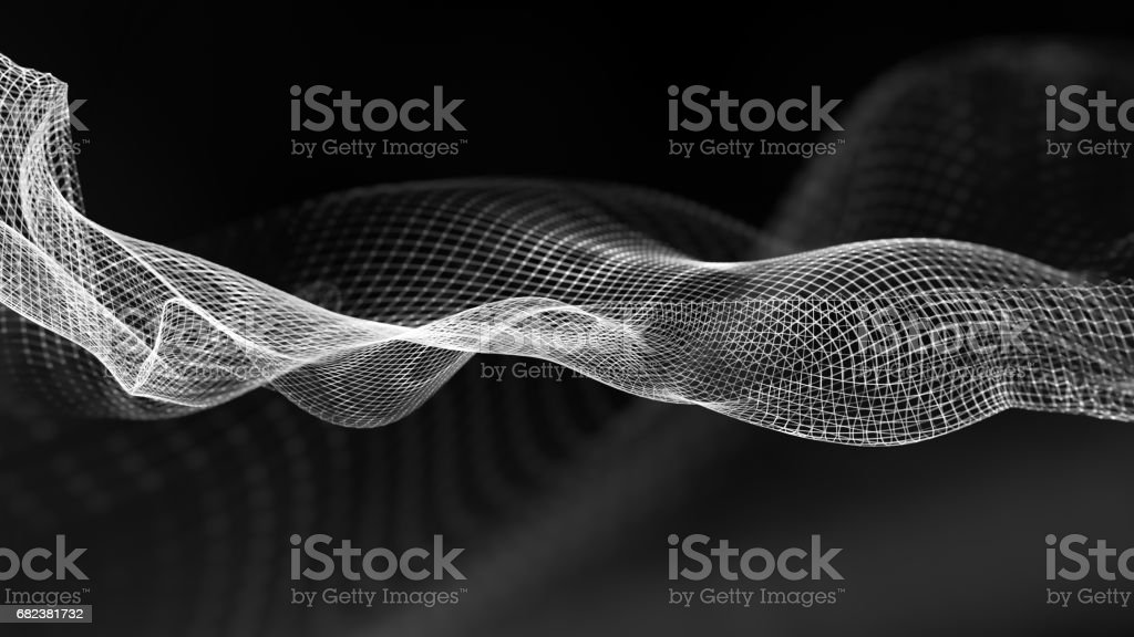 Abstract wave structure scientific background foto stock royalty-free