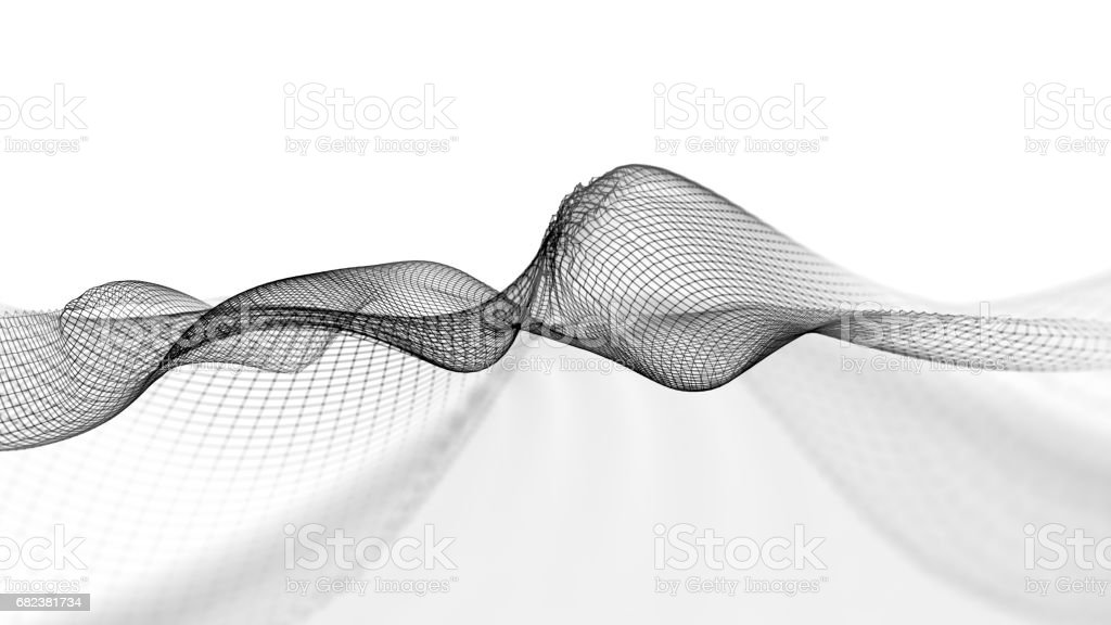 Abstract wave structure scientific background royalty-free stock photo