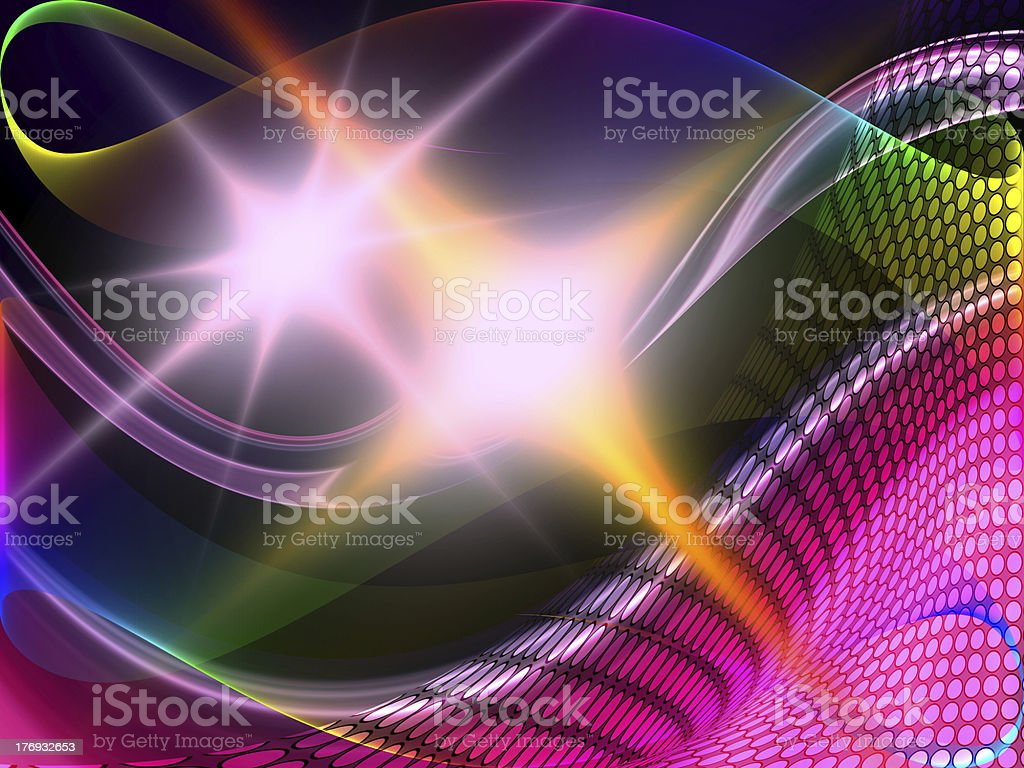 abstract waves royalty-free stock photo