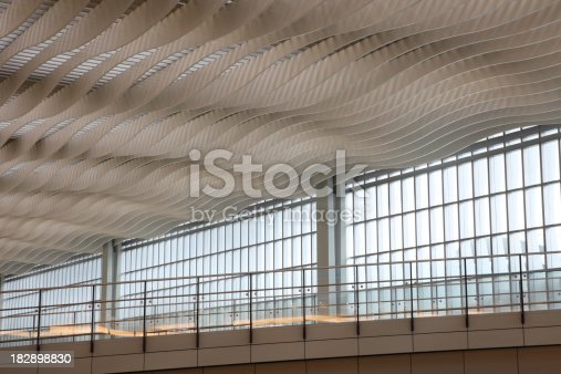 istock Abstract Wavy Ceiling 182898830