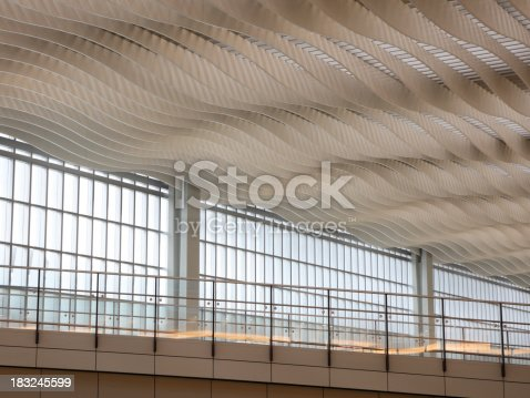 istock Abstract Wavy Ceiling 183245599