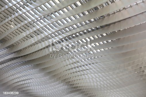istock Abstract Wavy Ceiling 183408239