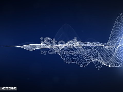 White wavy lines on dark blue background.