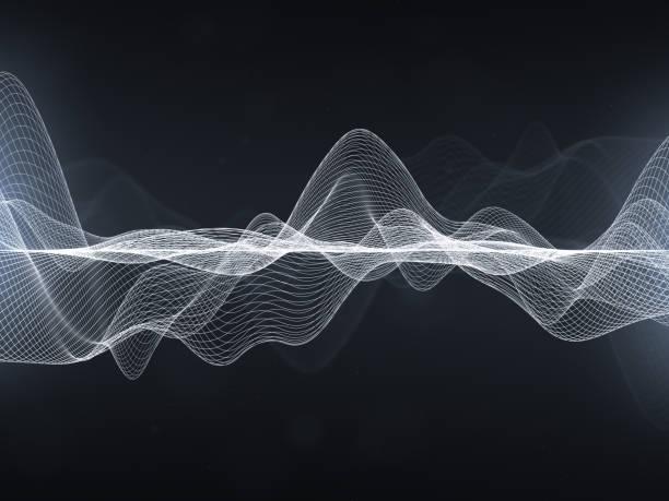 抽象的波浪線 - 聲波 個照片及圖片檔