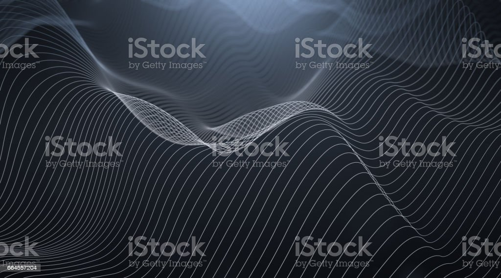 Abstract Wavy Lines stock photo