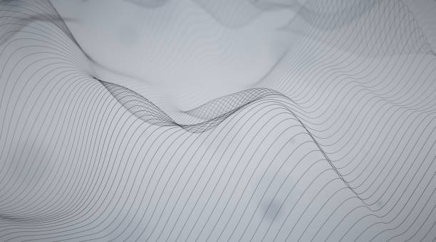 Abstract Wavy Lines - foto stock
