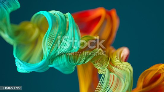 Abstract background of colorful curved lines