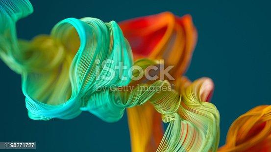 istock Abstract wavy object 1198271727