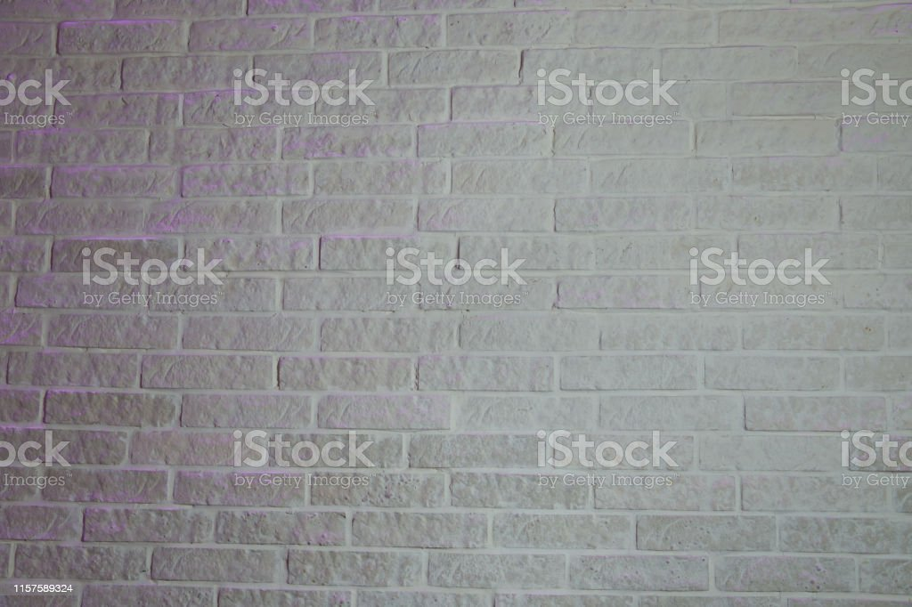 White brick wall texture background . Old white brick wall background...