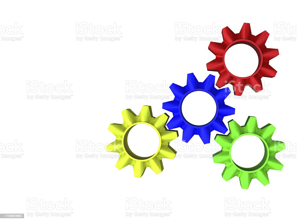 abstract web design with copy space in cog wheel stock photo