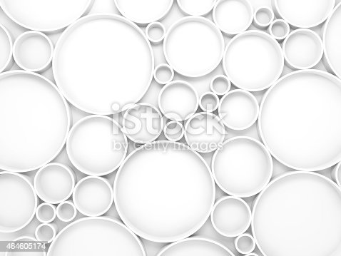 479257178istockphoto Abstract white 3d background with circles pattern 464605174