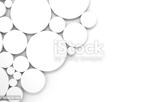 479257178istockphoto Abstract white 3d background with relief rings pattern 464605186
