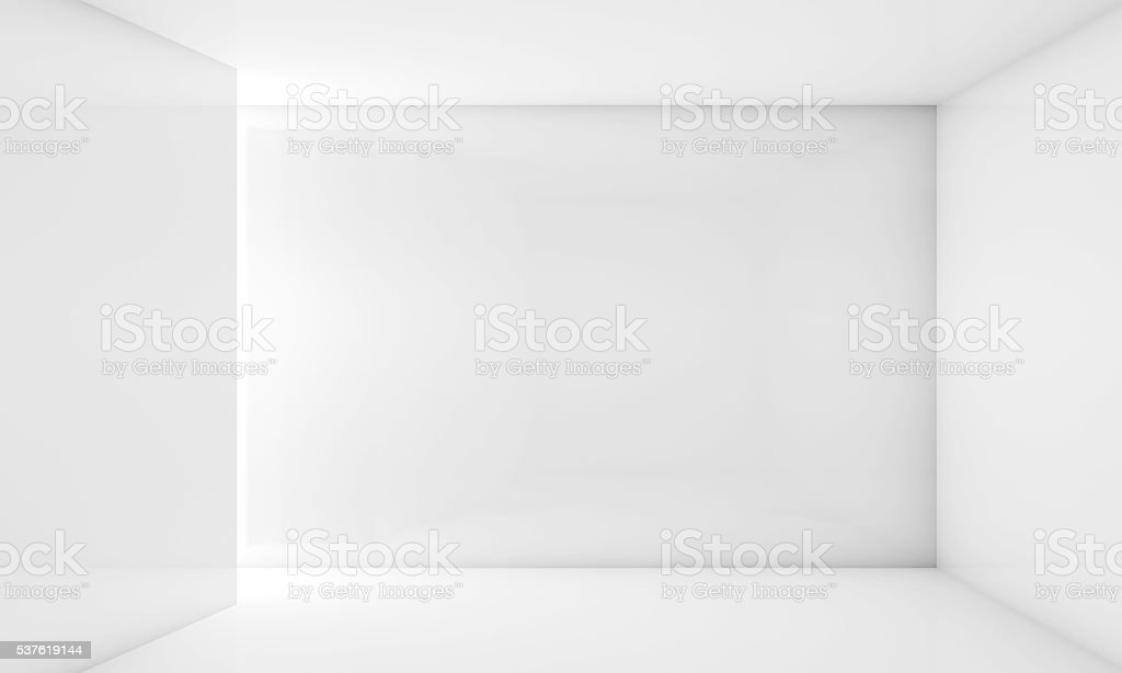 Abstract white 3d contemporary interior stock photo