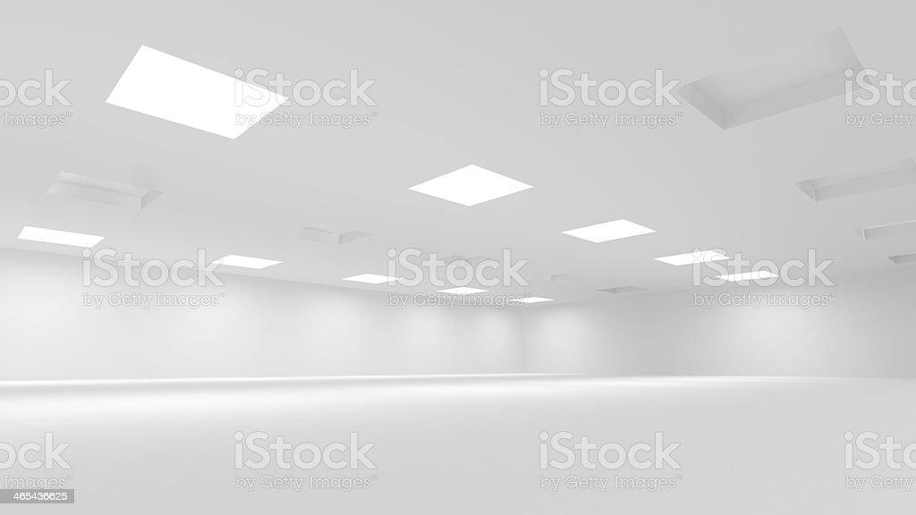 Abstrakte weiße 3d-Innenfutter und weicher Beleuchtung – Foto