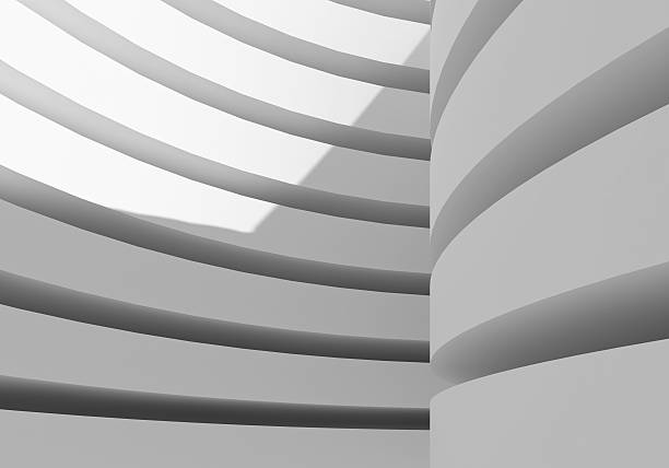 abstract white architecture building stock photo