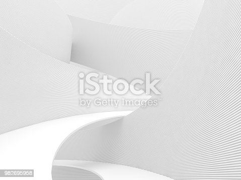istock Abstract white background 3d render 982695958