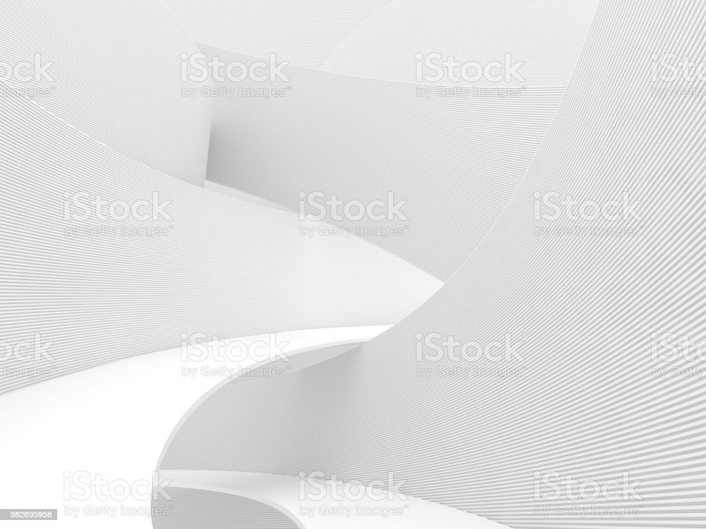 Abstract white background 3d render stock photo