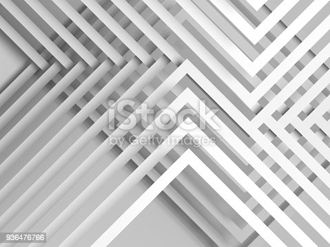 927319980 istock photo Abstract white background, geometric 3d 936476766