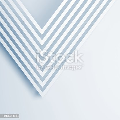 istock Abstract white background, square 3d 936476696