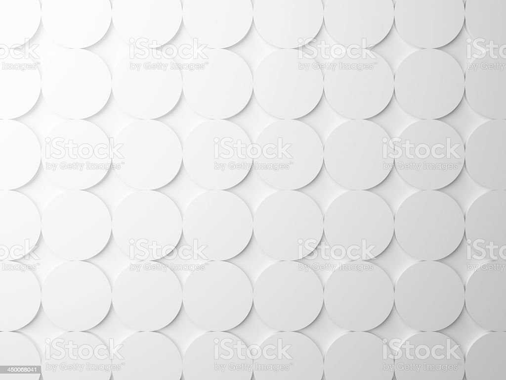Abstract white background texture with round elements stock photo