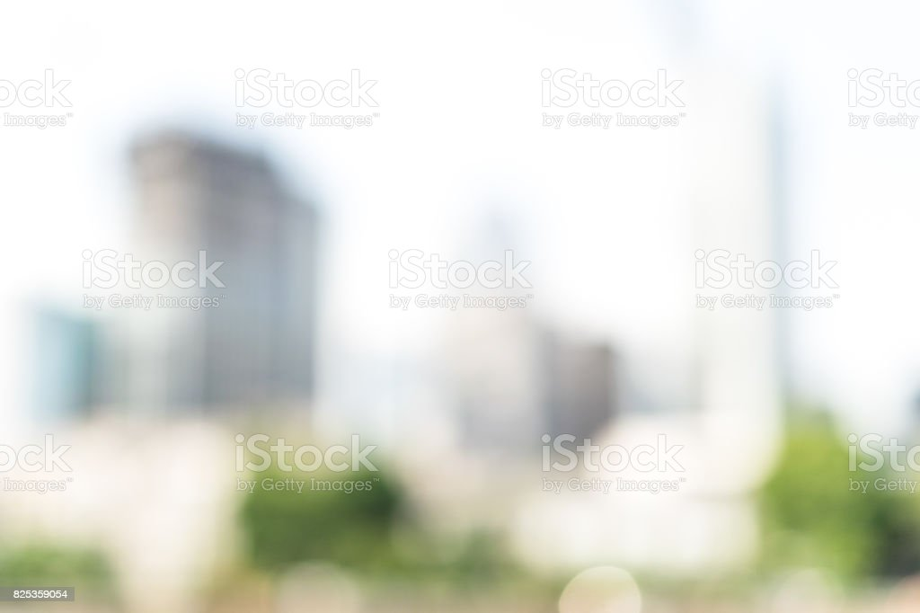 Abstract white blurred abstract background from buildings  and view of urban scene and business skyscrapers. Frankfurt On The Main. Frankfurt am Main stock photo