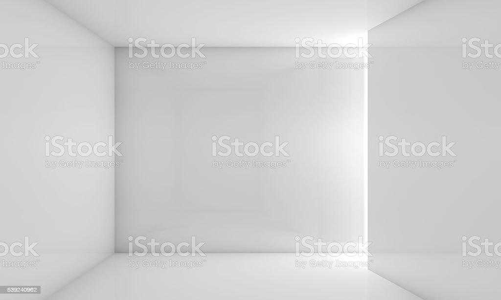 Abstract white contemporary interior 3 d stock photo