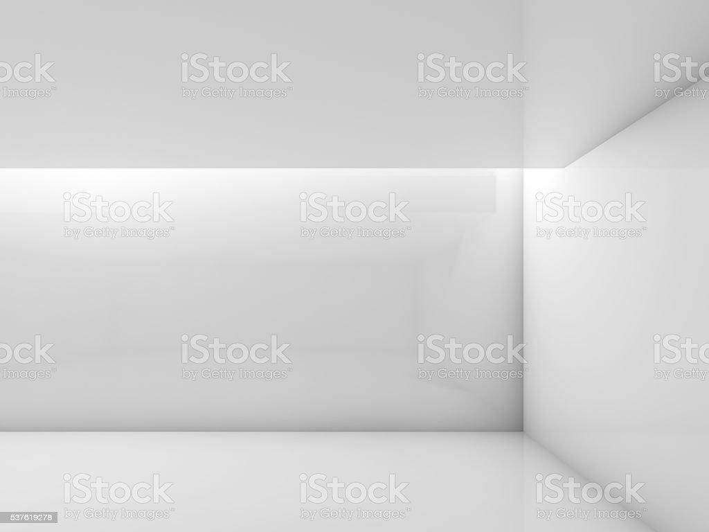 Abstrakt weiß modern Interior 3d render – Foto
