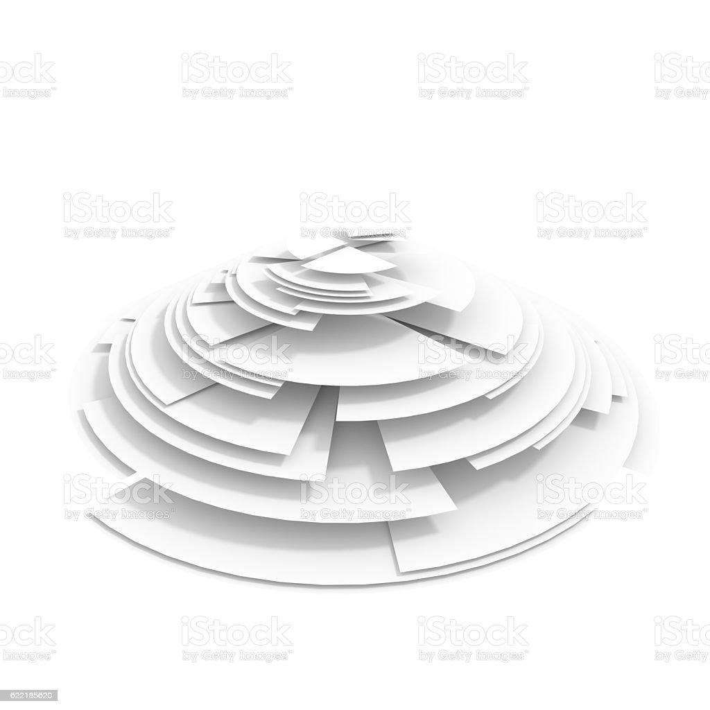 Abstract white diagram stock photo