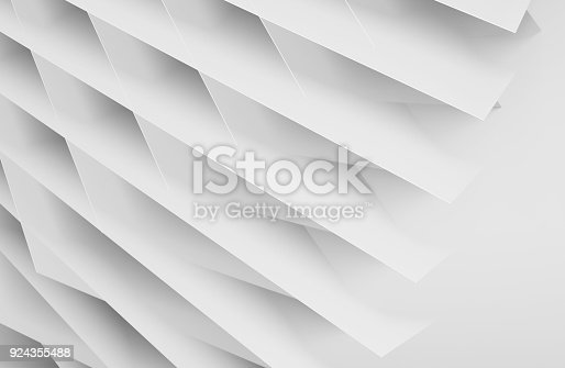 istock Abstract white digital 3d background 924355488
