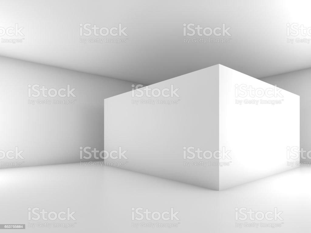 Abstract white empty interior, 3d design stock photo